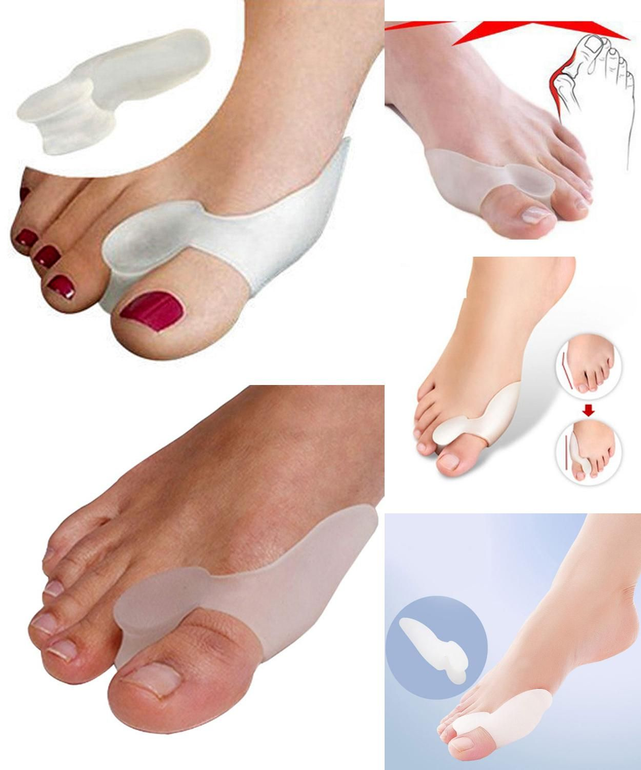 Visit To Buy 5pairs Feet Care Silicone Insoles Heel Toe Spreading Orthotic Insole Shoes Cushion Foot Care Gel Orthopedic Supp Feet Care Gel Toes Shoe Insoles