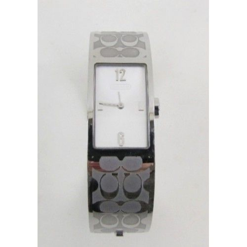 Coach Signature Etched Stainless Steel Mercer Bracelet Watch- $149 #MoshPosh