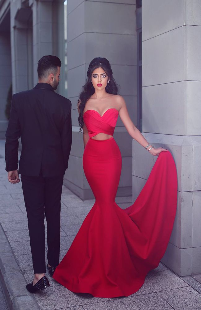Trumpet Sweetheart Prom Dress