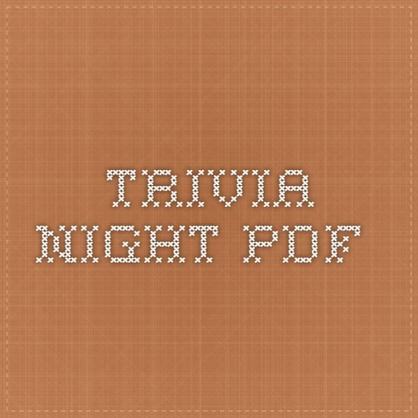 Youth Pastor Church Nite: Trivia, Night, Fundraising