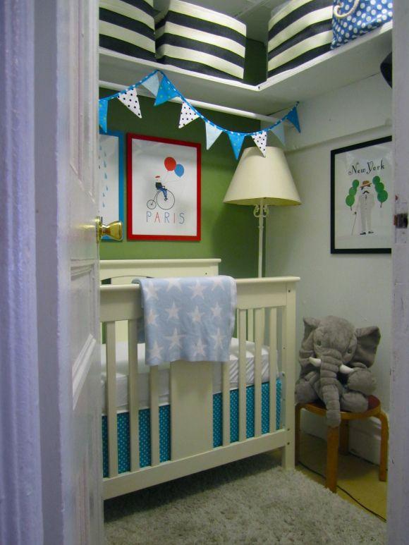Turning A Closet Into A Nursery Small Space Nursery
