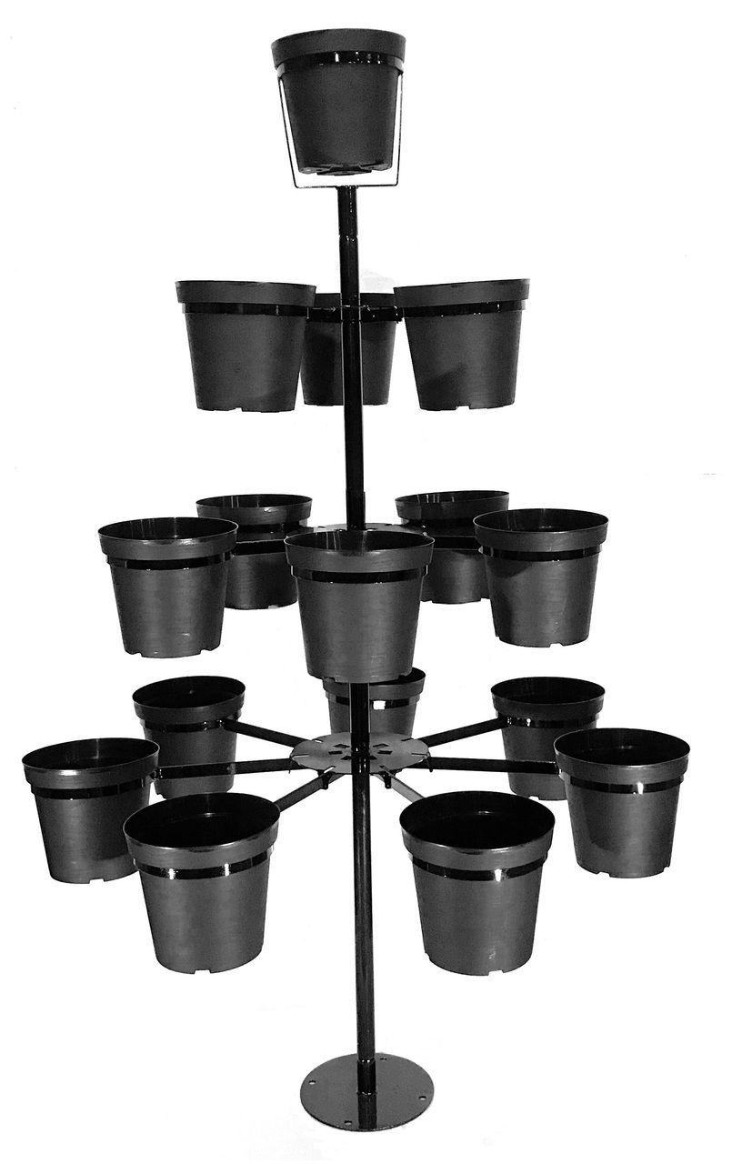 Flowertunia Tree 7 Feet Tall 16 Pots Metal Tree Flower Pots