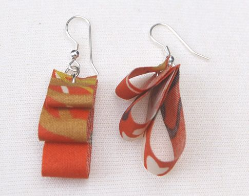 fabric scrap earrings
