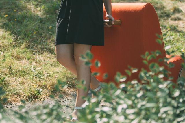 Hochwertig Designer Relaxsessel Lässt Sich Wie Eine Schubkarre Bewegen