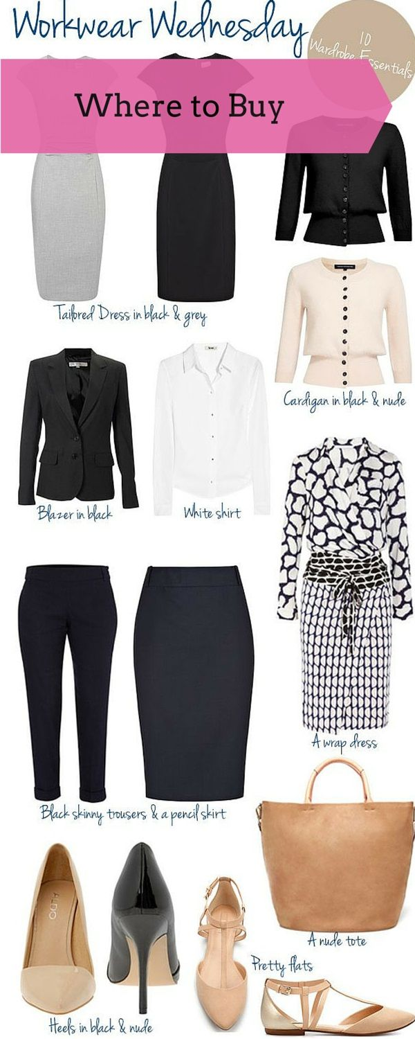 Work Wardrobe Essentials all the pieces to build a classic