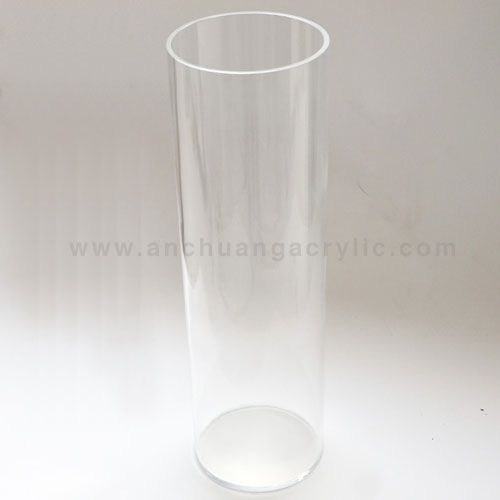 Acrylic Cylinder Vase For Wedding Floor Arrangements