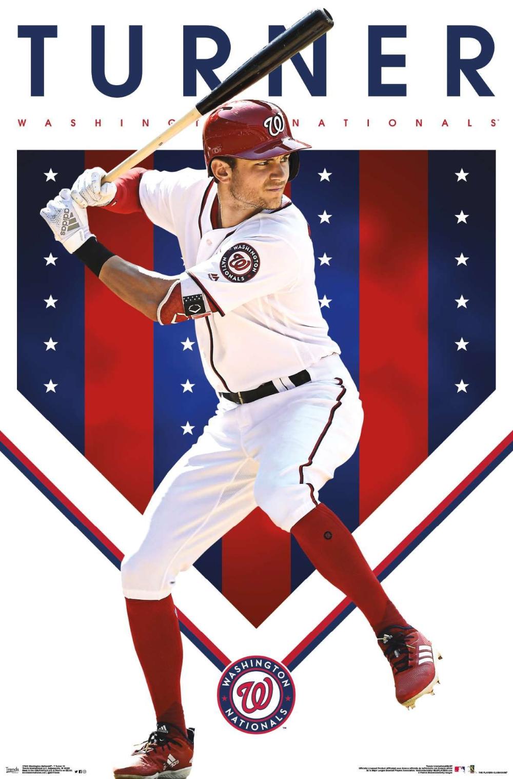Mlb Washington Nationals Trea Turner In 2020 Washington Nationals Atlanta Braves Logo Mlb