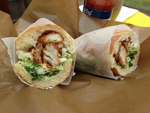 Korean Chicken Sandwich at Wishbone, Brixton