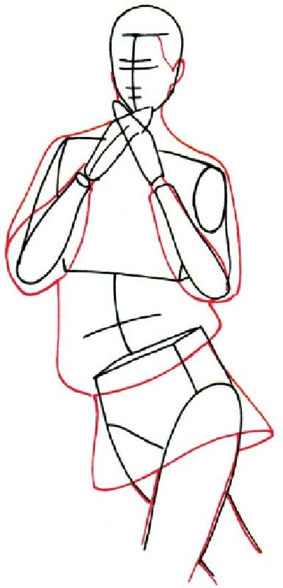 Leggings with big hands drawing