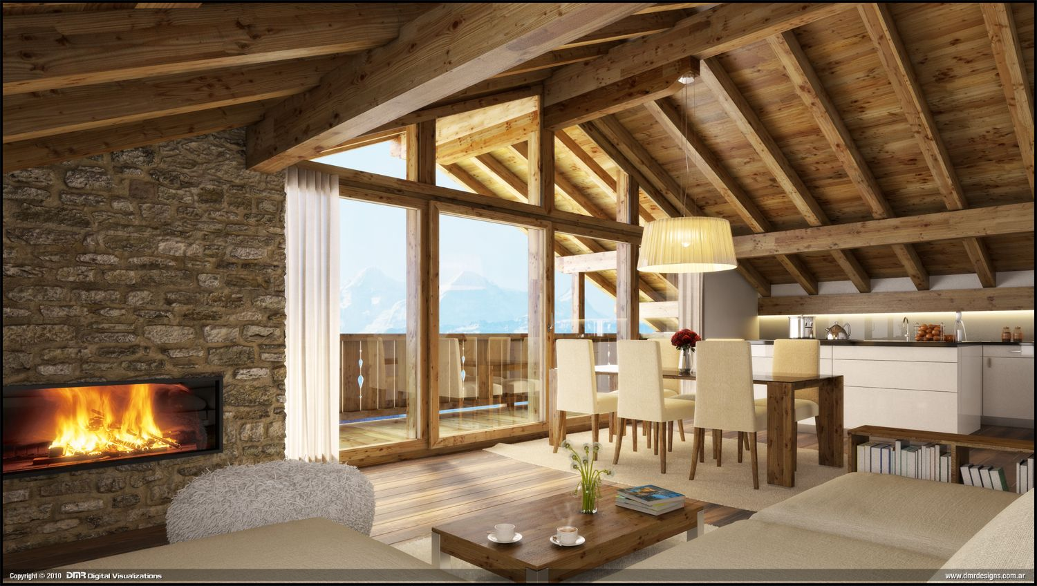 Wood house interior by diegoreales on deviantart