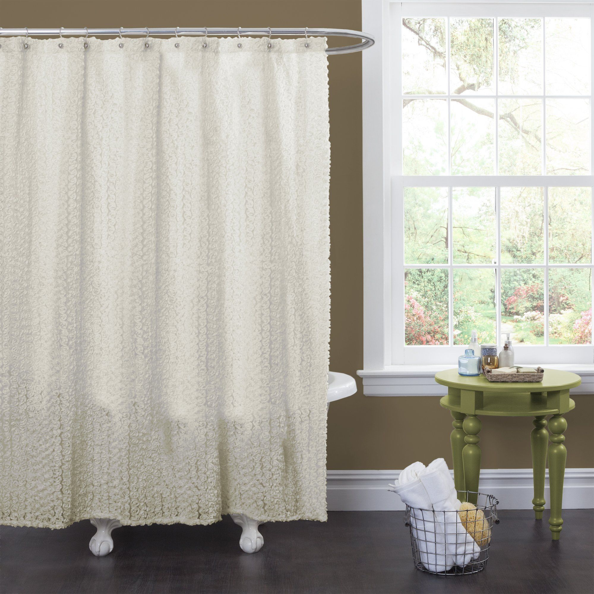 Lush Decor Roslyn Shower Curtain Ivory You Can Find Out More
