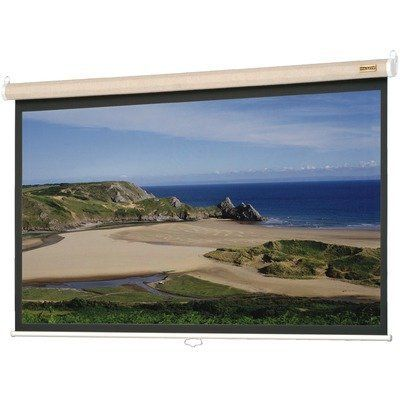 Matte White Designer Model B With Fabric Case In Pepper Video Format 100 120 Diagonal Size 100 Diagonal By Da L Projection Screens Meeting Room Screen