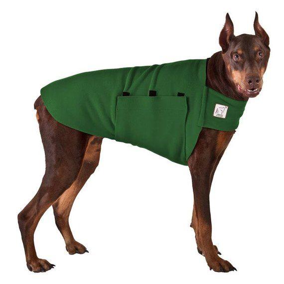 Doberman Pinscher Tummy Warmer Dog Sweater Fleece Dog Coat Dog