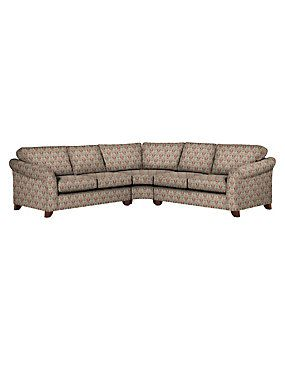 Alabaster Abbey Curved Corner Sofa