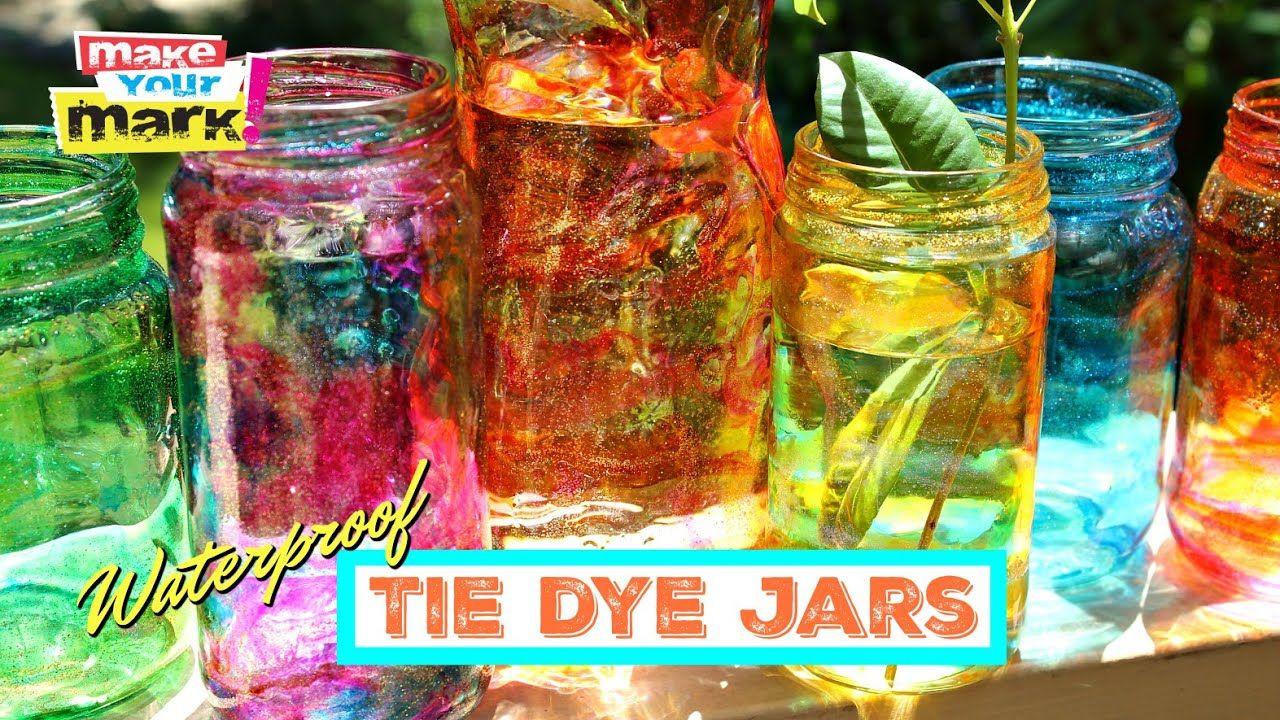 Colorful tie dye jars waterproof in 2020 jar