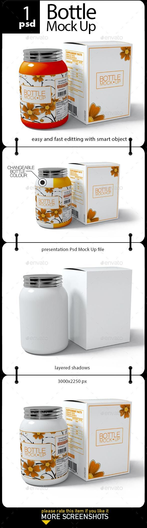 Download Bottle Mock Up - Envato Market #mockup #psd #template # ...