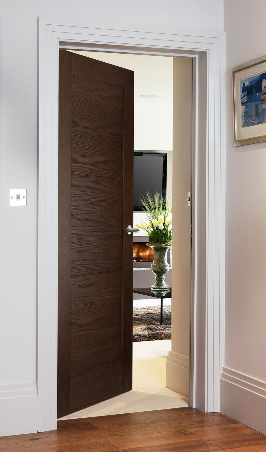 Sienna Smoked Oak Contemporary Style Door For Modern Homes At The Great Price Doors Interior Modern Wooden Doors Interior Doors Interior