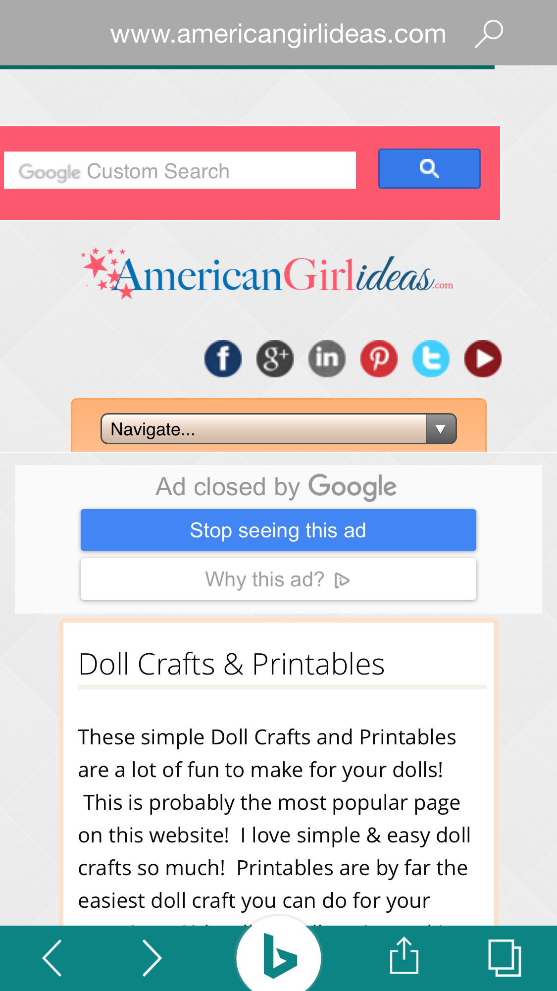 Americangirlideas Com Websites Website Ios