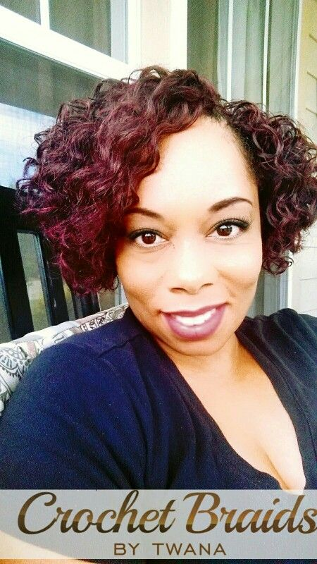 Crochet Braids With Freetress Gogo Curl In Color 99j