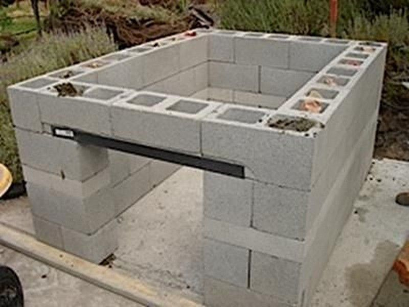 how to build a cinder block bbq pit outdoor kitchen ideas