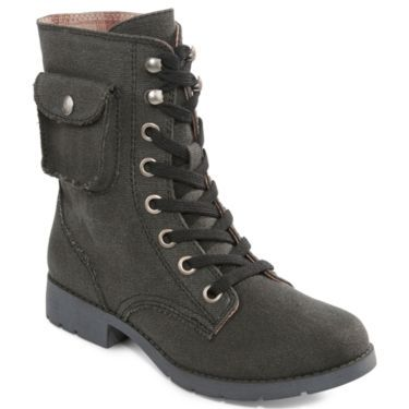 Arizona Connie Lace-Up Military Boots - JCPenney