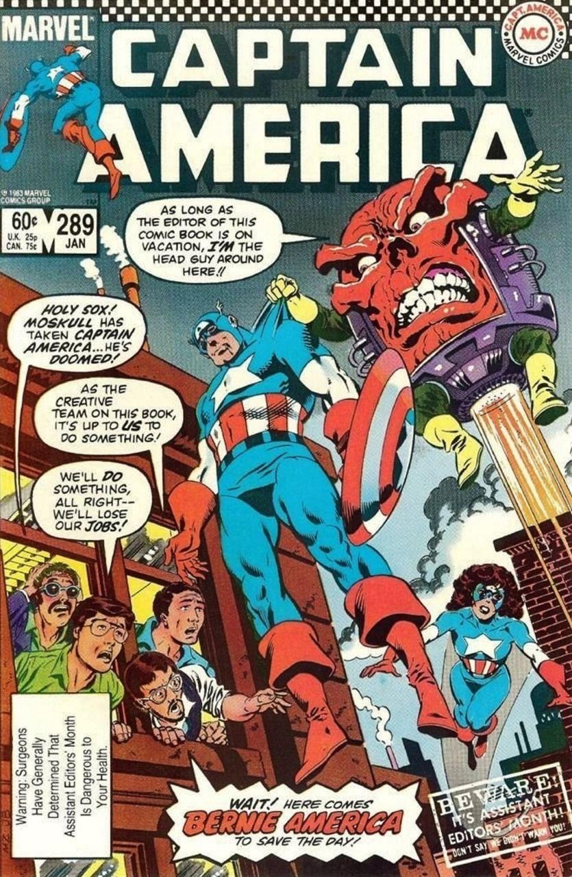 Captain America #289 - Tomorrow, The World?; Bernie America, Sentinel of Liberty