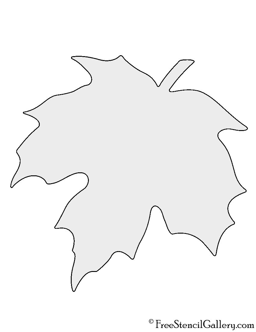 Maple Leaf Stencil | Projects to Try | Pinterest | Bastelarbeiten ...