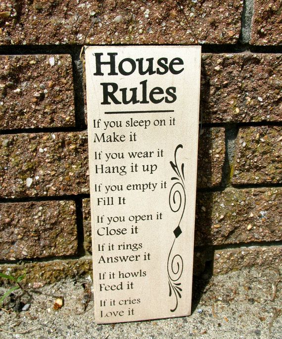 Funny House Rules Sign A must have for those of you who have