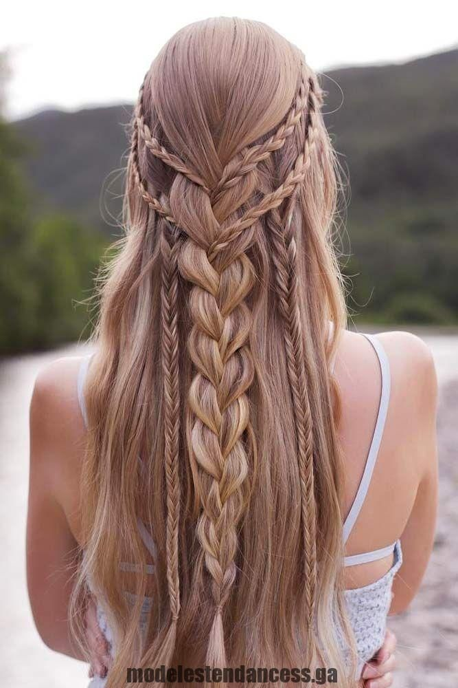 Peinados trenzados de graduación Half-Up Half-Down Image2, # bild2 #styles # flechten … – Estilo bohemio