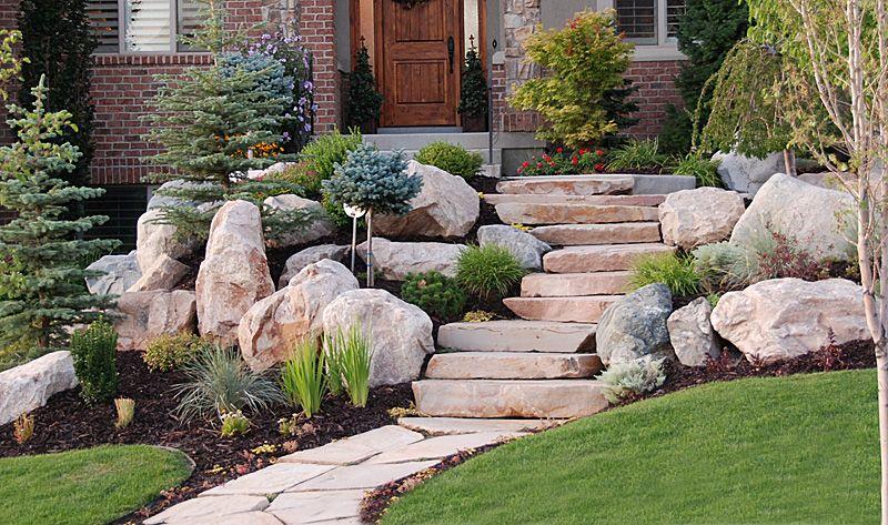 RockScapes   Landscaping   Pinterest   Entry ways ... on Backyard Rockscape Ideas id=40386