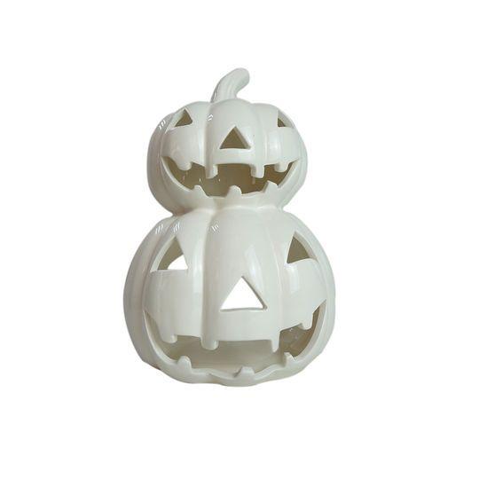 Purchase The White Ceramic Jack O Lantern Candle Holder By