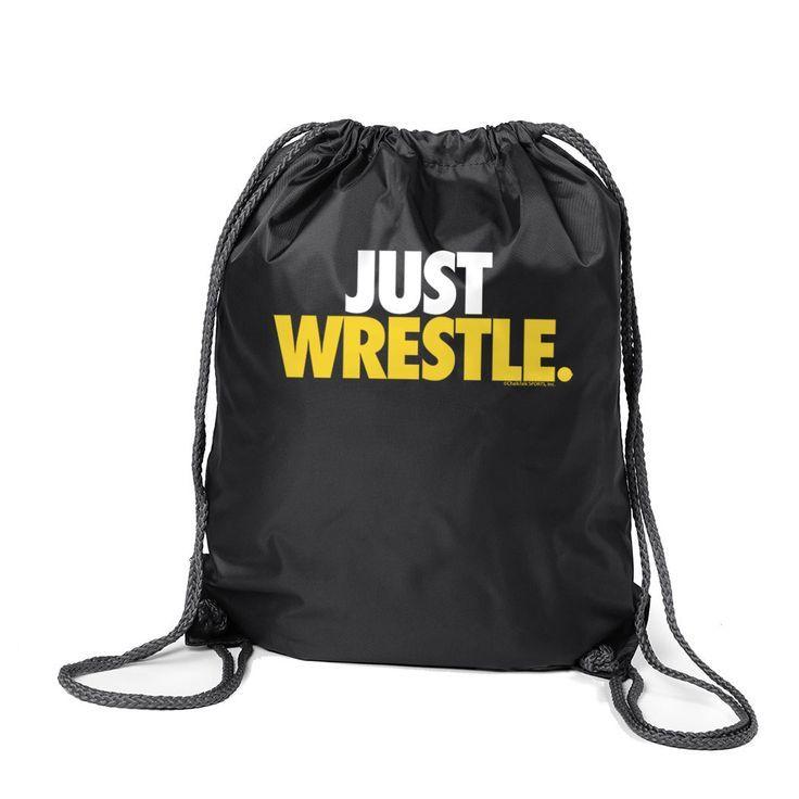 Wrestling Drawstring Backpack  Just Wrestle Black Cinch Sack Sport Pack  Wrestling Gift I Wrestling Drawstring Backpack  Just Wrestle Black Cinch Sack Sport Pack  Wrestli...