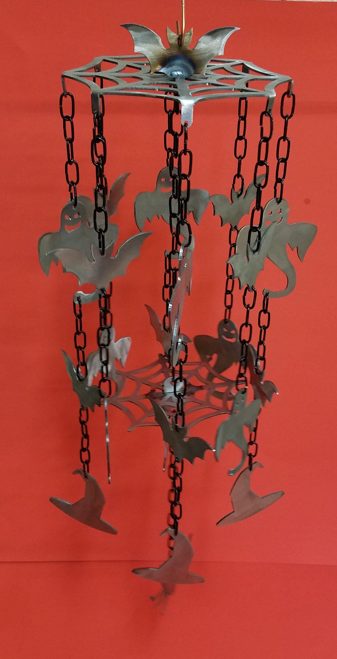 Halloween Ghost and Bats wind chime Wind chimes