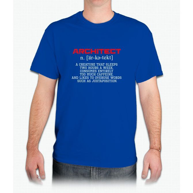 Architect Definition Funny Meaning Shirt Gift (New) - Mens T-Shirt