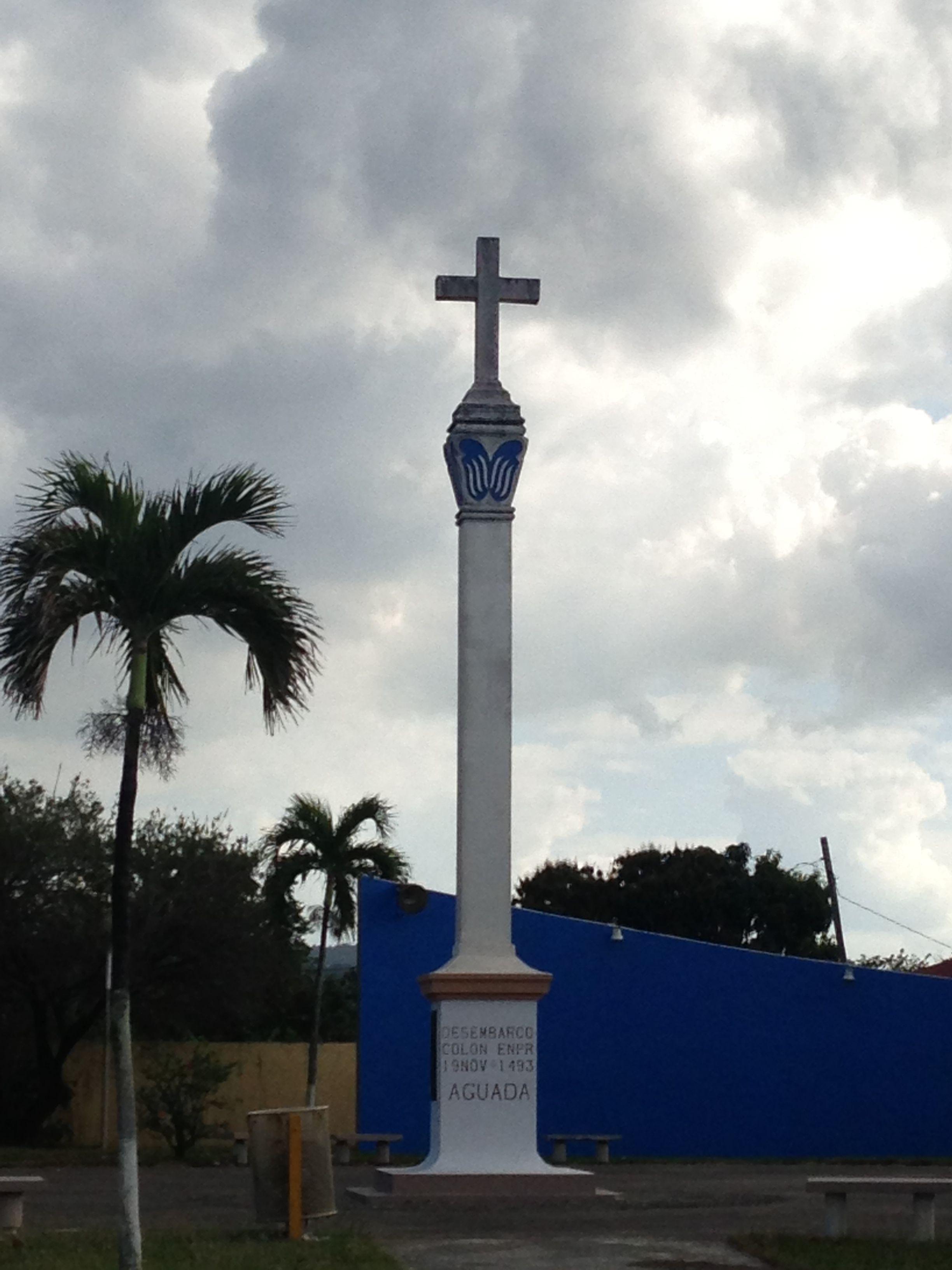 Monumento al Descubrimiento de PR. Marca el area en donde