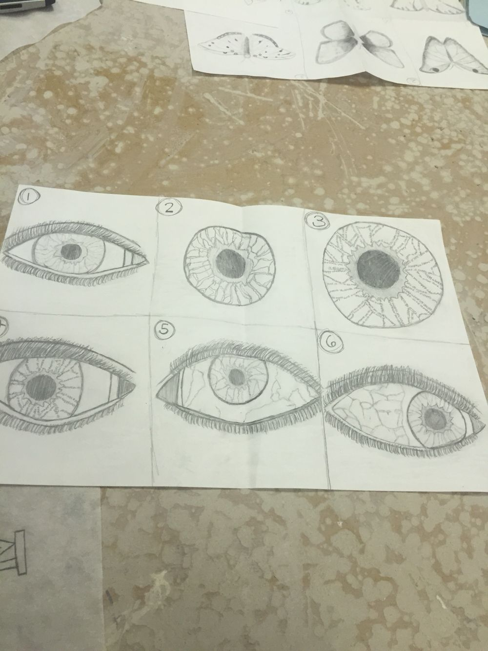 sketches of eye for design