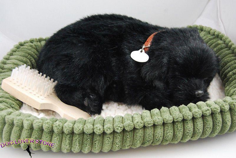 Black Lab Perfect Petzzz Life Like Stuffed Animal Breathing Dog