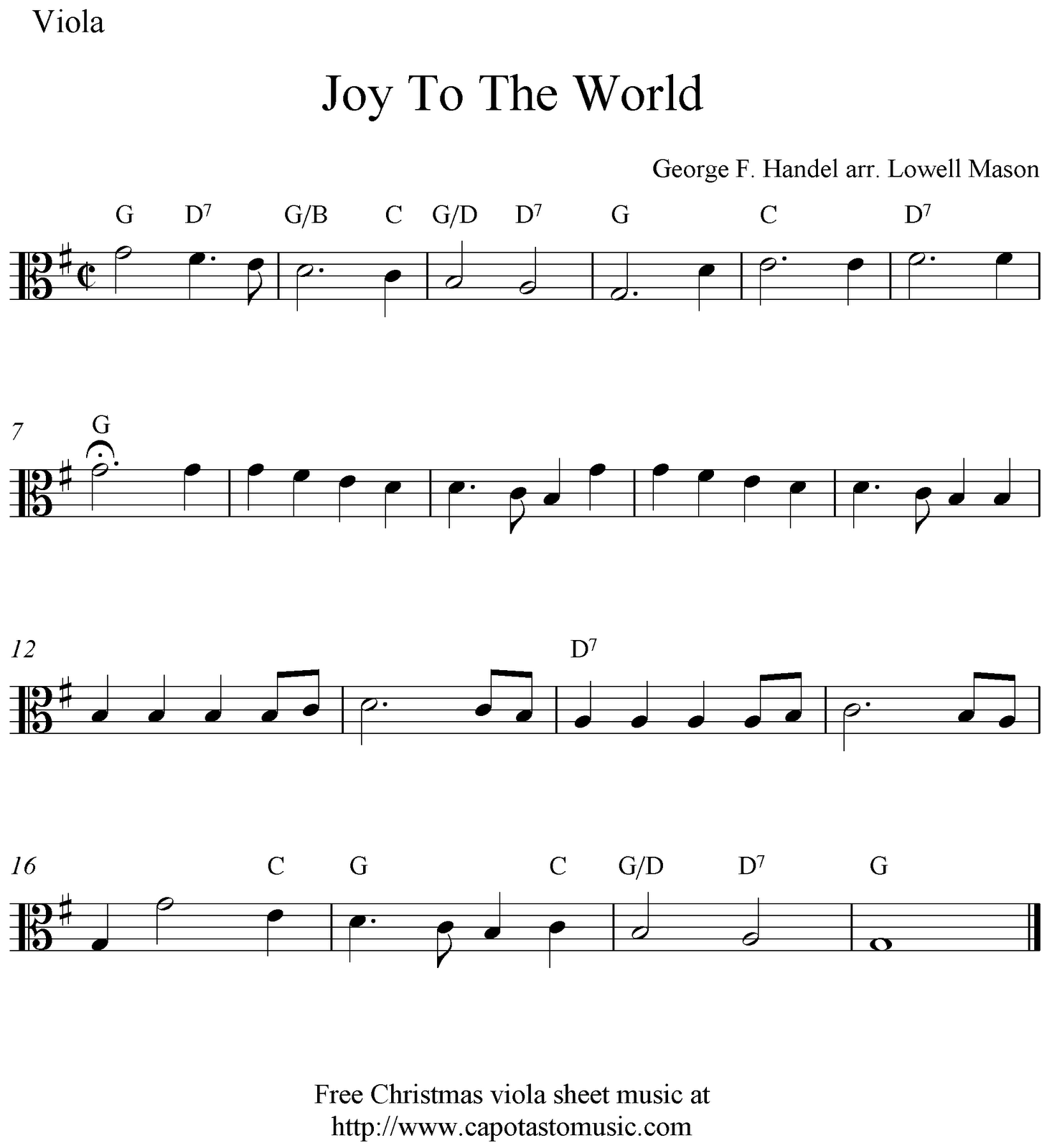 Free Christmas Guitar Sheet Music For Beginners: Viola Sheet Music For Beginners Christmas Music