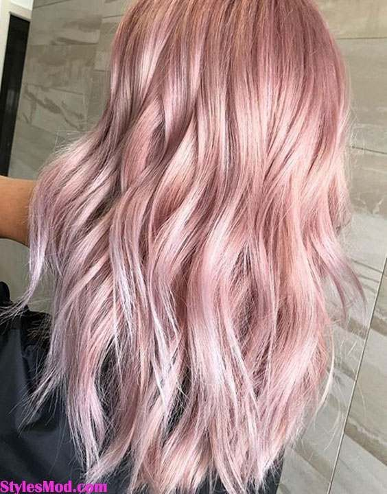 Trendiest Pink Hair Color Ideas Trends For Long Hair In 2018 Pink Blonde Hair Hair Color Pink Light Pink Hair