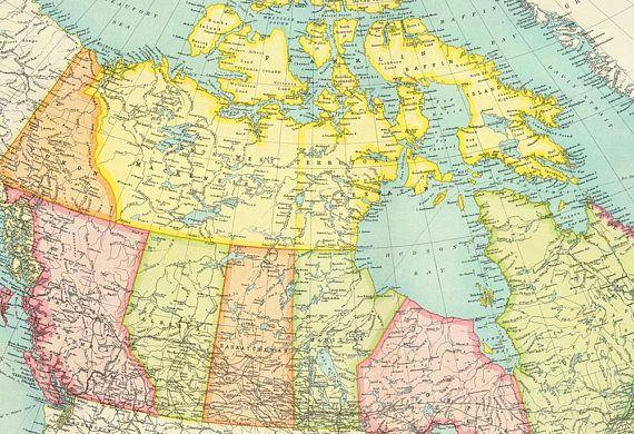 Canada map digital downloadnada map printntage dominion maps canada map digital downloadnada map printntage dominion gumiabroncs Image collections