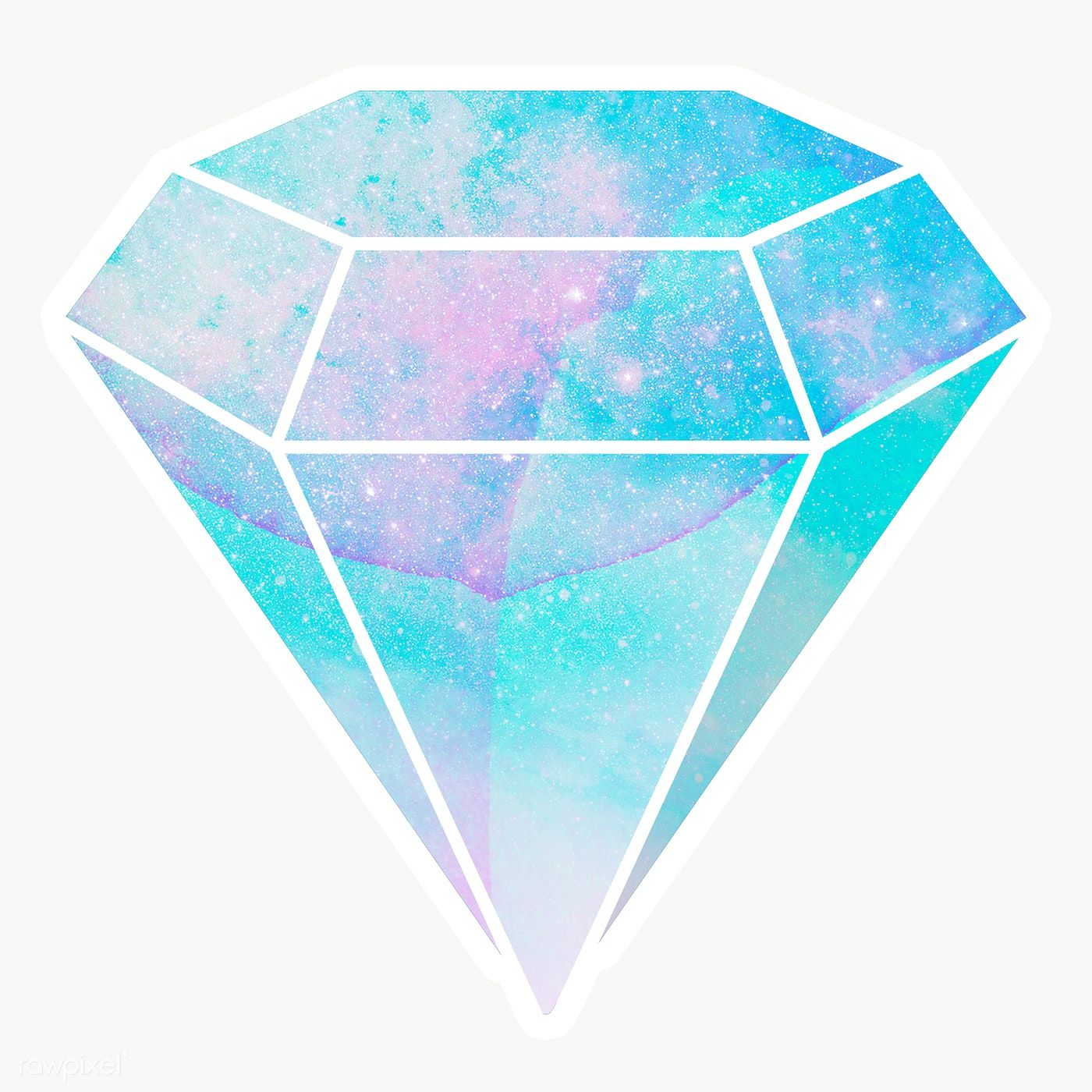Download Premium Png Of Cerulean Blue Crystal Diamond Shaped Sticker With Diamond Illustration Diamond Crystal Diamond Shapes
