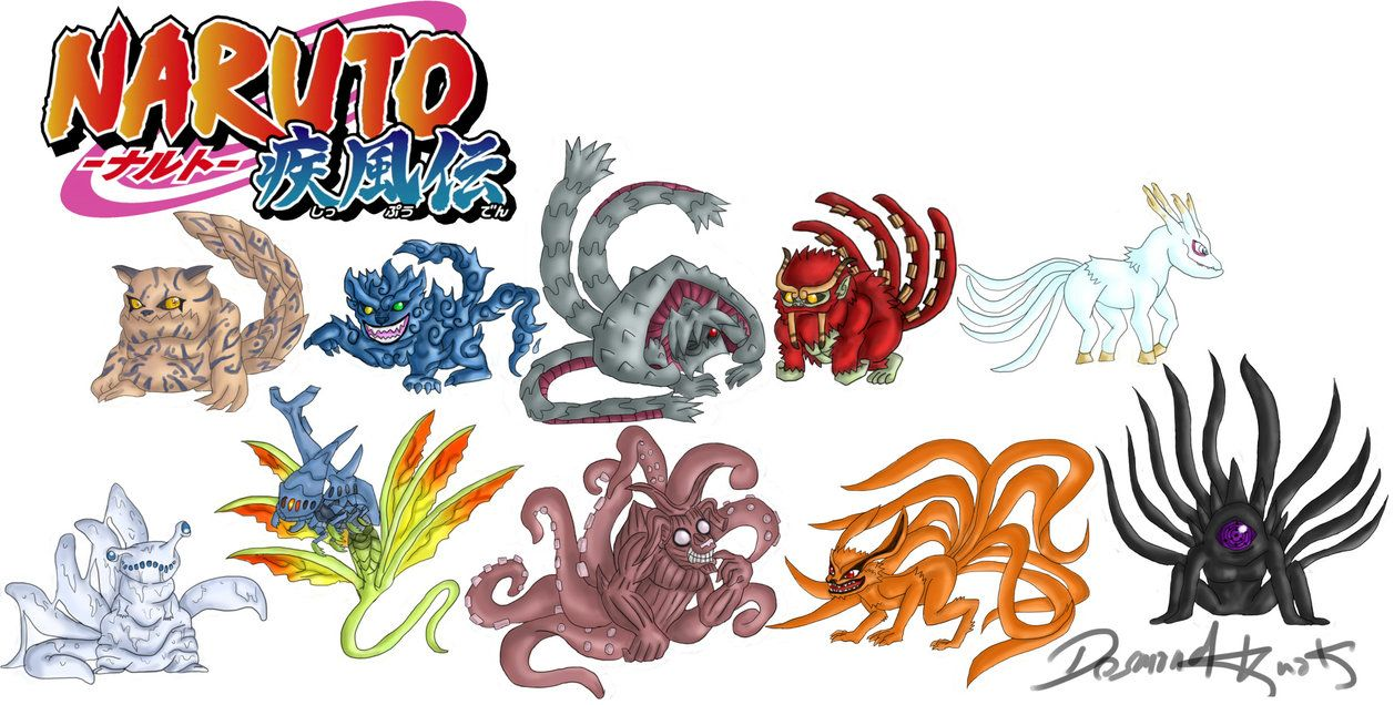 Naruto Shippuden Tailed Beasts (Bijus) by poizonazn on