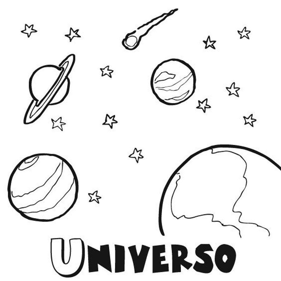 Dibujos Para Colorear Del Espacio Y El Universo Caratulas De Ciencias Universo Dibujo Caratulas De Ciencias Naturales