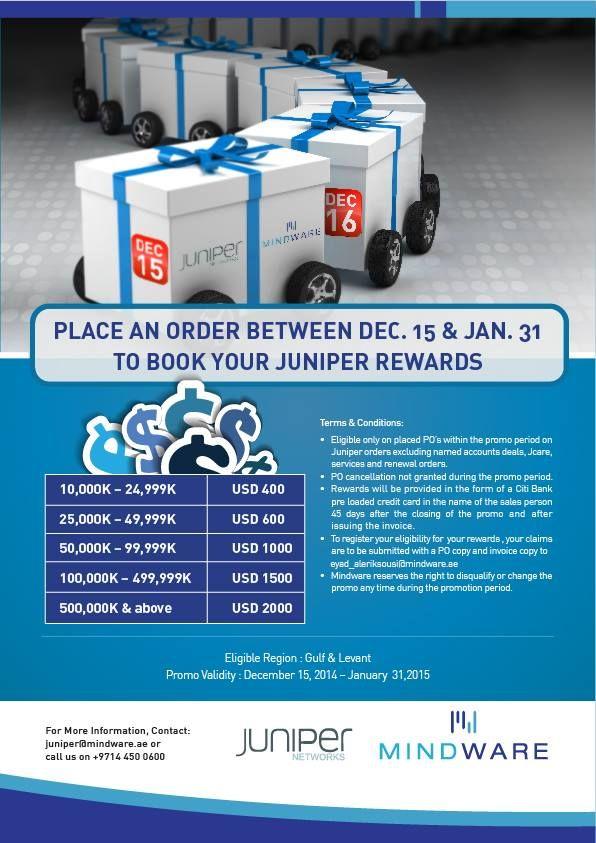 Juniper Networks Winter Promo! Place an order between Dec 31st - Jan