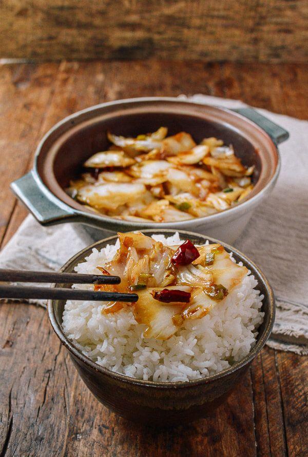 Sichuan Küche Rezepte   Sichuan Hot And Sour Cabbage Suan La Bai Cai Rezept