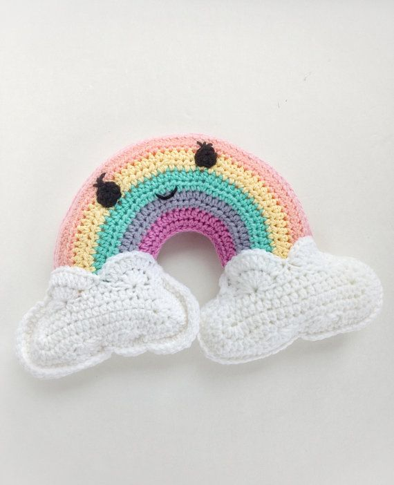 New Crochet Rainbow Pattern - Rainbow pillow - Rainbow plushie ...