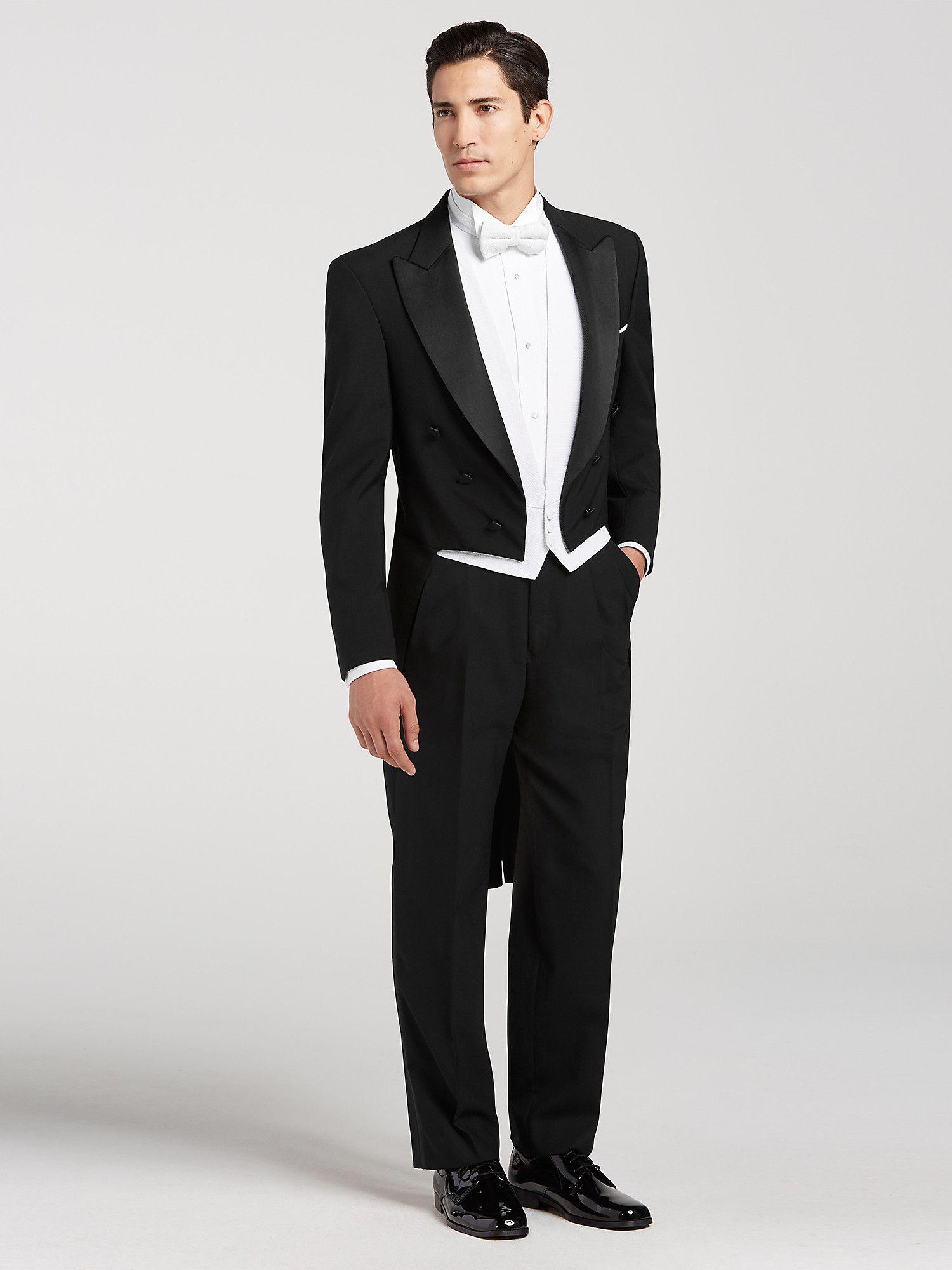 Joseph & Feiss Black Full Dress Tailcoat Tux Wedding