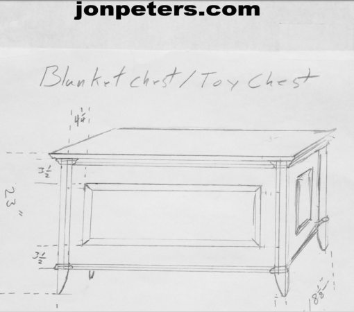 Build A Blanket Chest Toy Chest Free Design Plans Jon Peters Art Home Blanket Chest Toy Chest Jon Peters
