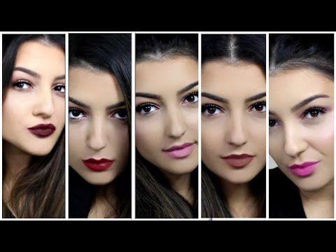 5 Valentines Day Looks || 5 Makeup Tutorials - YouTube