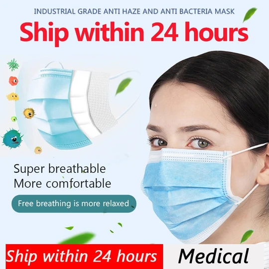 Disposable Medical Masks Fast Shipping within 24 Hours in 2020